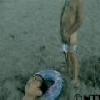 Pipi à la plage